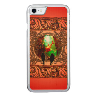 Birds looking in a fantasy underwater world carved iPhone 7 case