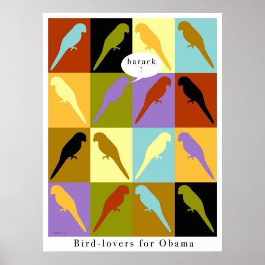 Birds love Obama poster