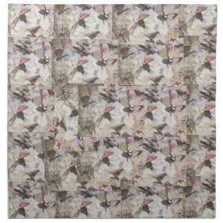Birds & Music Paper Collage Clothe Napkins