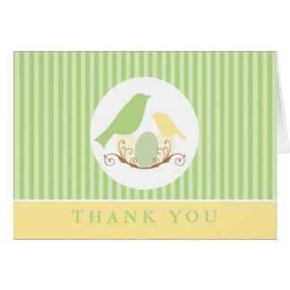 Birds Nest Baby Shower Thank You Cards Cards