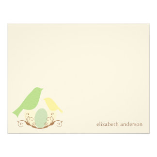 Birds Nest Flat Thank You Cards Custom Invites