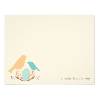 Birds Nest Flat Thank You Cards Personalized Announcements