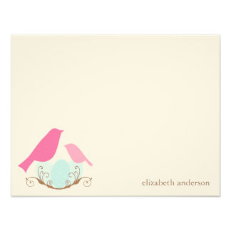 Birds Nest Flat Thank You Cards Invites