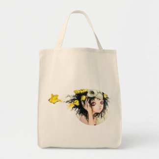 Bird's Nest Grocery Tote Canvas Bags