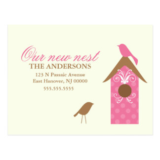 Birds Nest Moving Announcements Post Cards