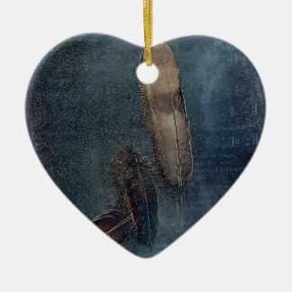 Birds of a Feather Ceramic Heart Decoration