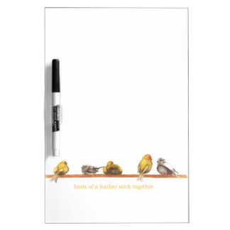 Birds of a Feather Dry Erase Board