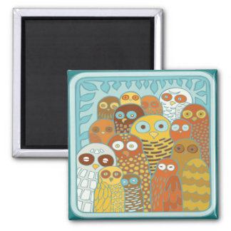 Birds of a feather flock together square magnet