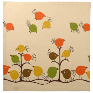 Birds of a Feather Printed Napkins