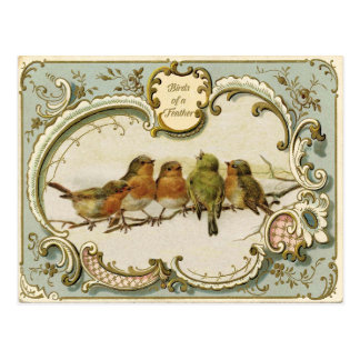 Birds of a Feather Vintage Reproduction Postcard