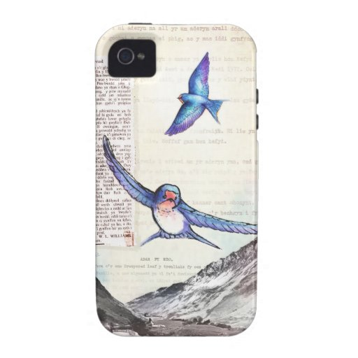 Birds of a Welsh Valley Vibe iPhone 4 Cases
