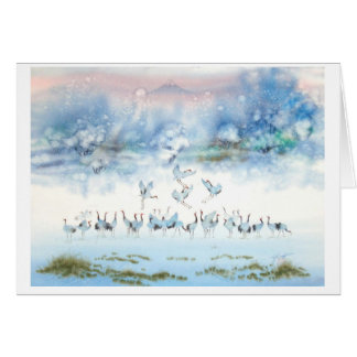 BIRDS OF HAPPINESS, JAPANESE CRANE CARD