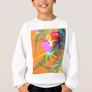 Birds of Paradise (A) Abstract Fractal Design Sweatshirt
