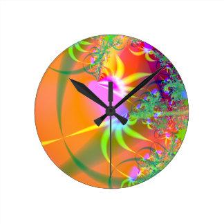 Birds of Paradise (A) Round Clock