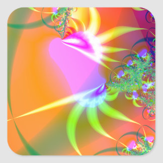 Birds of Paradise (A) Square Sticker