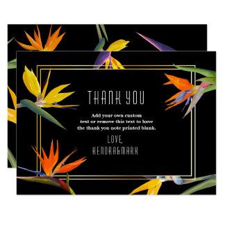 Birds of Paradise, Floral Thank You Cards 9 Cm X 13 Cm Invitation Card