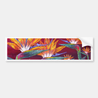 Birds Of Paradise Tropical Flower - Multi Bumper Sticker