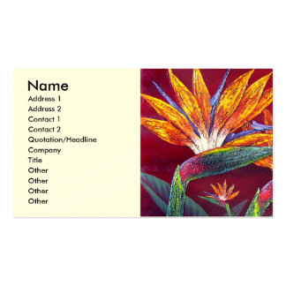Birds Of Paradise Tropical Flower - Multi Pack Of Standard Business Cards