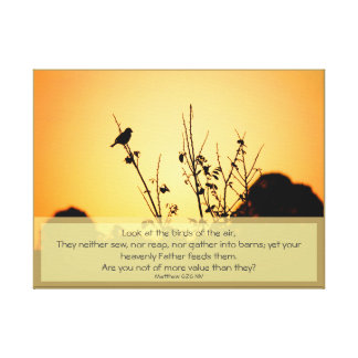 Birds of the Air Poster Canvas Print