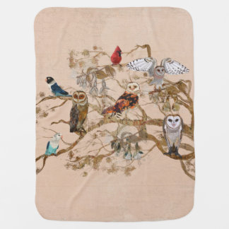 BIRDS OF THE SAME FEATHER TREE Baby Blanket
