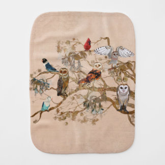 BIRDS OF THE SAME FEATHER TREE Burp Cloth
