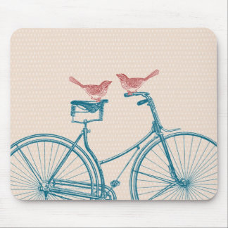 Birds on a Bicycle Mouse Pad
