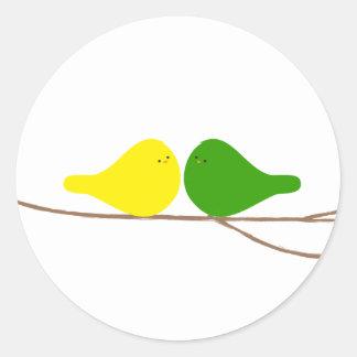 Birds on a Branch Classic Round Sticker