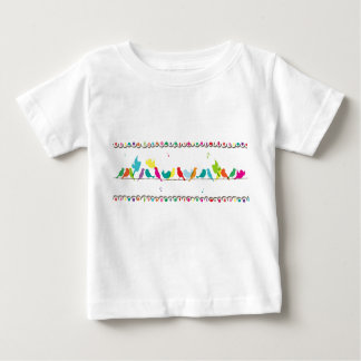 birds on a line baby T-Shirt