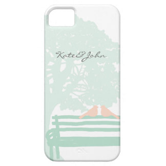 Birds on a Park Bench Wedding Barely There iPhone 5 Case