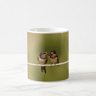 Birds on a wire coffee mug