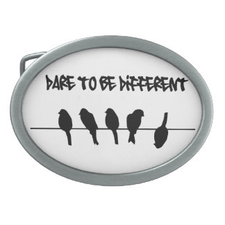 Birds on a wire – dare to be different belt buckle
