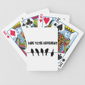 Birds on a wire – dare to be different bicycle playing cards