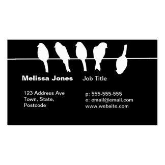 Birds on a wire – dare to be different (black) pack of standard business cards