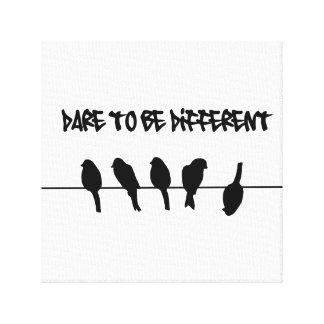 Birds on a wire – dare to be different gallery wrap canvas
