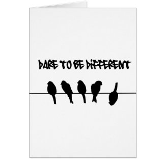 Birds on a wire – dare to be different card