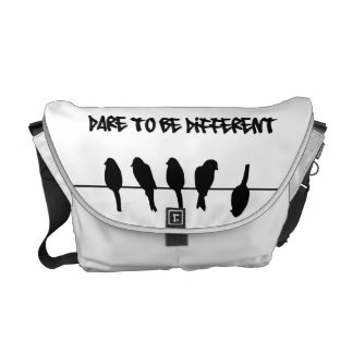 Birds on a wire - dare to be different commuter bag