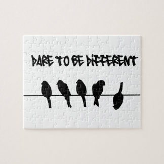 Birds on a wire – dare to be different jigsaw puzzle