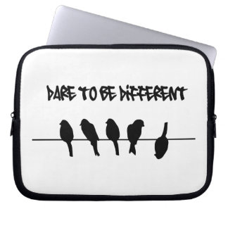 Birds on a wire – dare to be different laptop sleeve