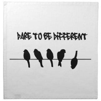 Birds on a wire – dare to be different napkin