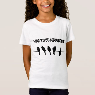 Birds on a wire – dare to be different T-Shirt