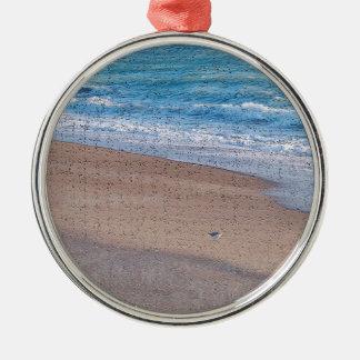birds on beach crackle sea shore florida christmas ornament
