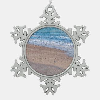 birds on beach crackle sea shore florida ornament
