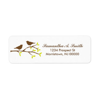 Birds on Branch Return Address Labels