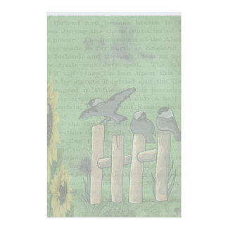 Birds on Fence Stationery