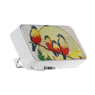 BIRDS ON HOLLY TRAVELLING SPEAKERS
