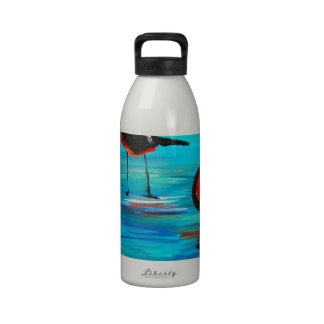 Birds on the Lagoon (Acrylic) K.Turnbull Art Drinking Bottles
