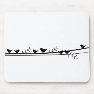 Birds on Vine Mouse Pads