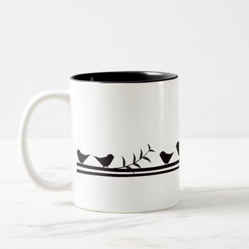 Birds on Vine Coffee Mugs