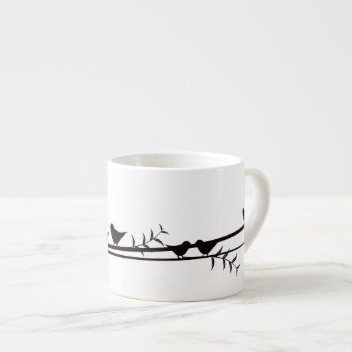 Birds on Vine Espresso Cup