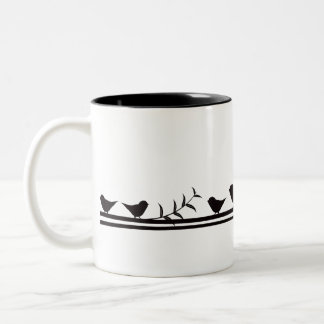 Birds on Vine Two-Tone Mug